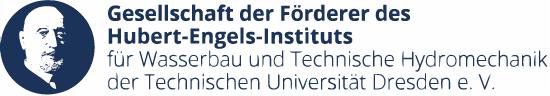 Logo der Gesellschaft der Förderer des Hubert-Engels-Instituts für Wasserbau und Technische Hydromechanik der Technischen Universität Dresden e. V.